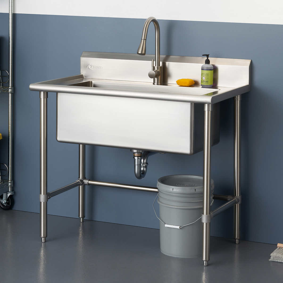 Stainless Steel Utility Sink Costco, Westinghouse Laundry Sink With Cabinet Costco