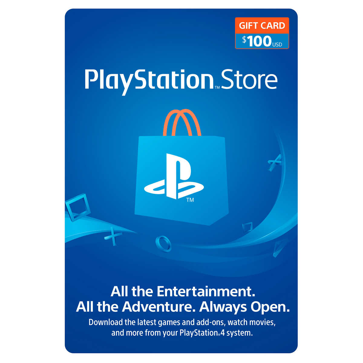 Sony Playstation 100 Gift Card Digital Download