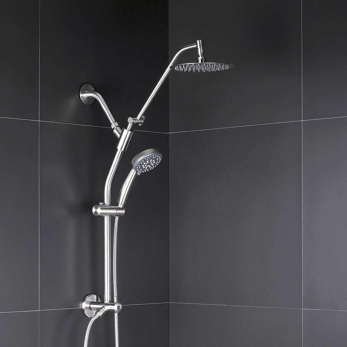 AFA Stainless Multi function Hand Held & Rain Head Shower System