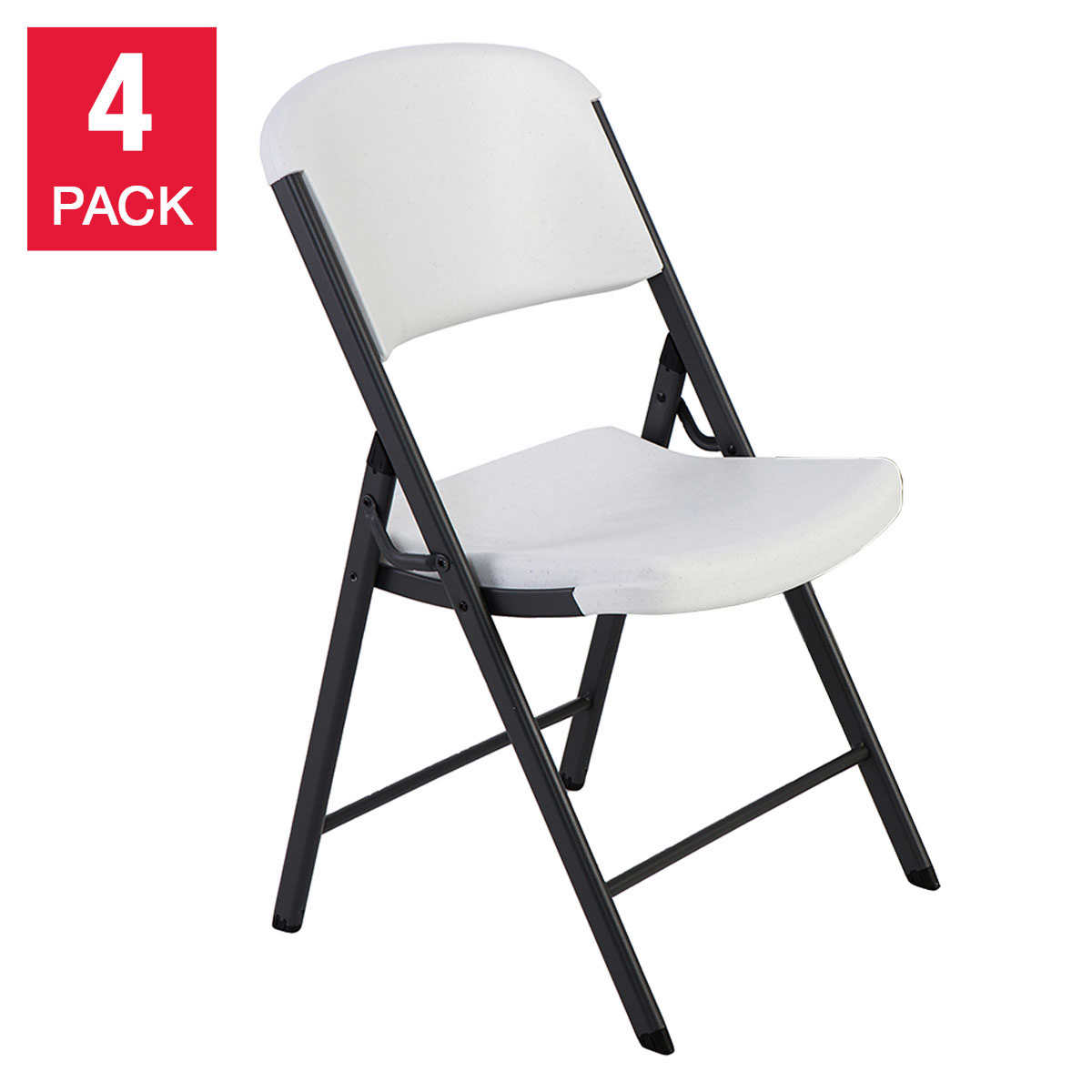 heavy duty steel small decorative indooroutdoor firewood.htm lifetime folding chairs  white or beige  4 pack  lifetime folding chairs  white or beige