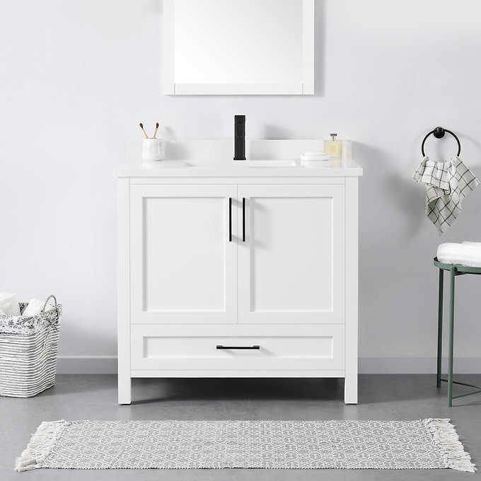 Ove Decors Lourdes 36 Bath Vanity Costco, White 36 Inch Bathroom Vanity