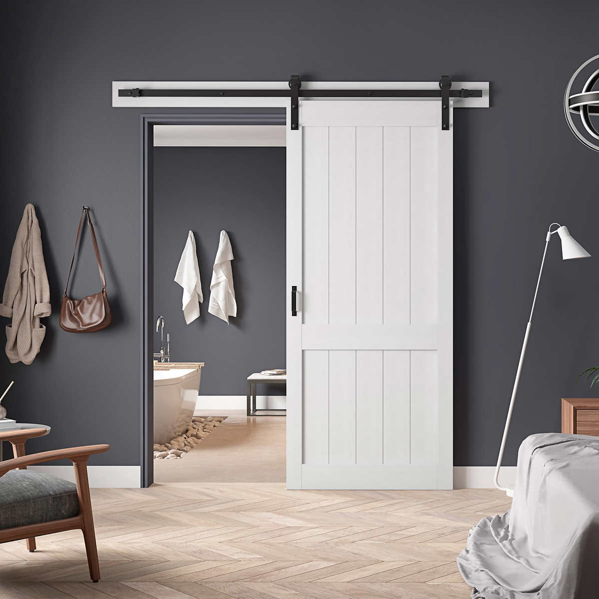 Ove Decors Barn Door With Hardware Kit Smooth Soft Close