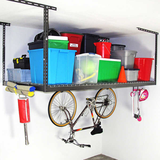 8 Ft Overhead Garage Storage Rack, Overhead Garage Storage Rack Accessories