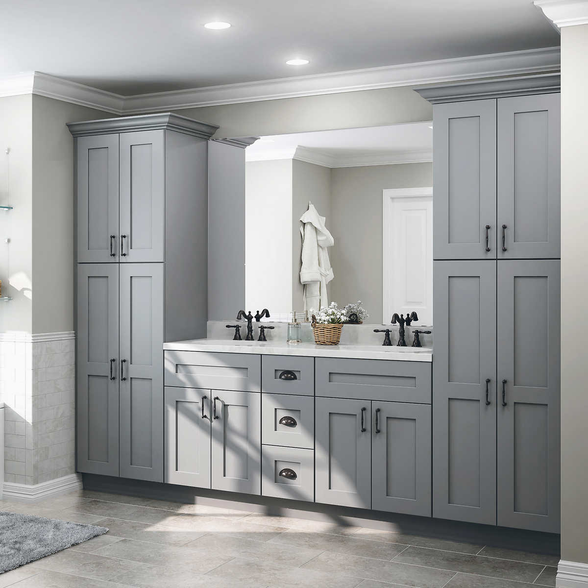 Custom Bathroom Vanity And Top By All Wood Cabinetry