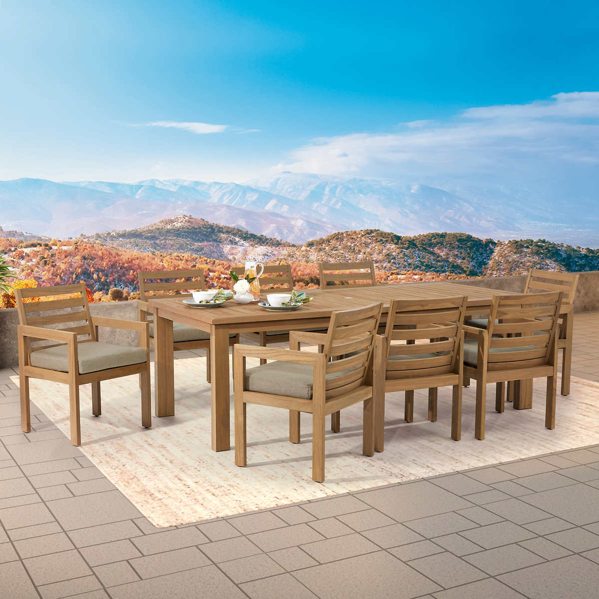 Carey 9 Piece Teak Dining Set