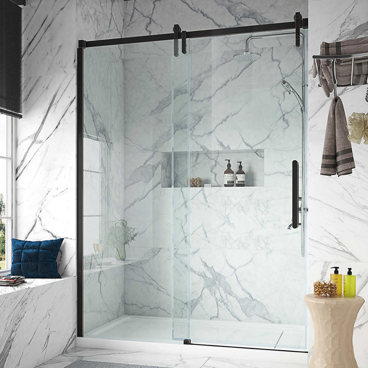 Ove Decors Sheffield 60 Tempered Glass Shower Door