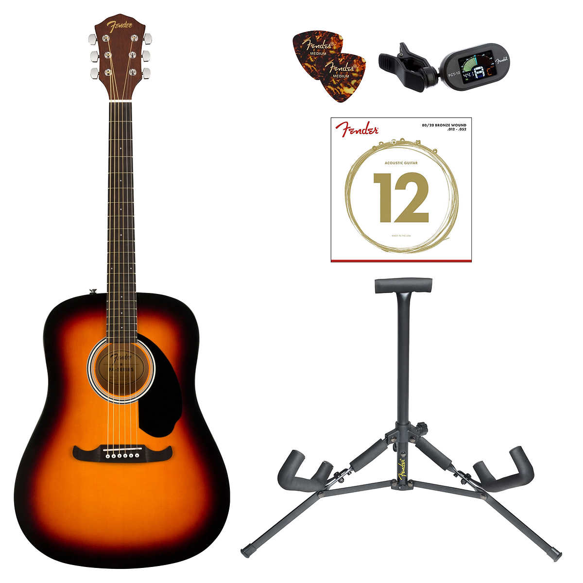 Fender Fa 125 Acoustic Guitar Bundle