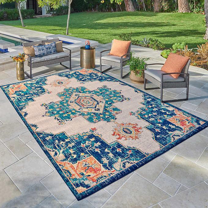 Venice Indoor Outdoor Area Rug, 6×8 Bathroom Carpet