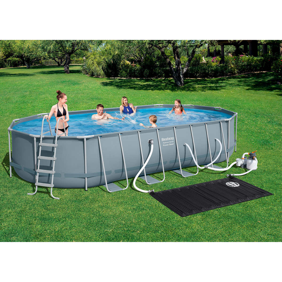 Bestway Power Steel 22 X 12 X 48 Above Ground Pool Set