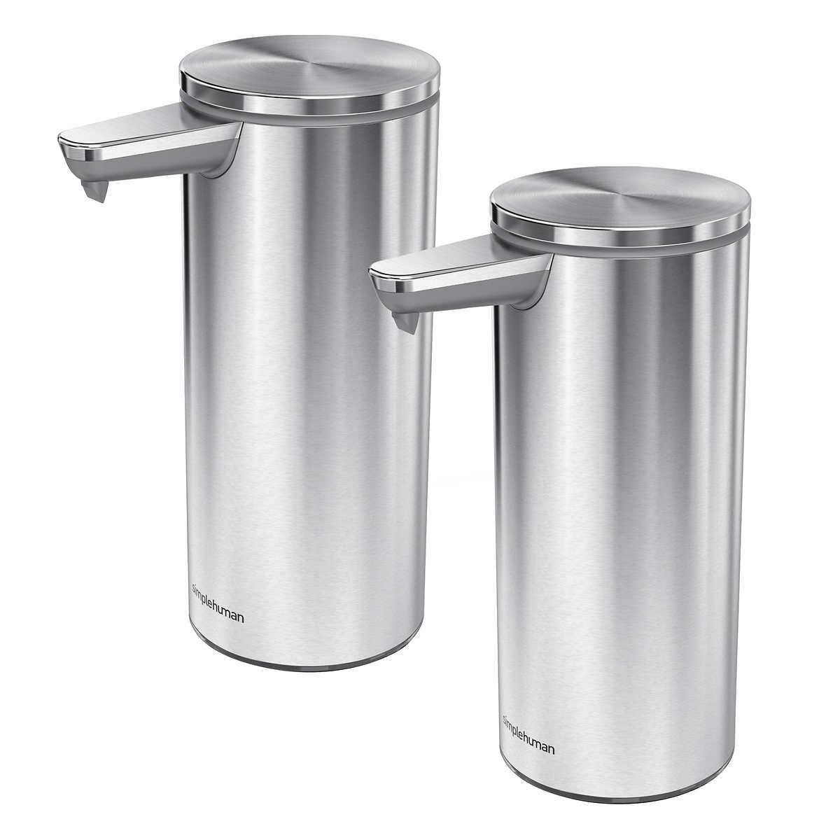 Simplehuman Rechargeable Sensor Soap Dispenser 2 Pack