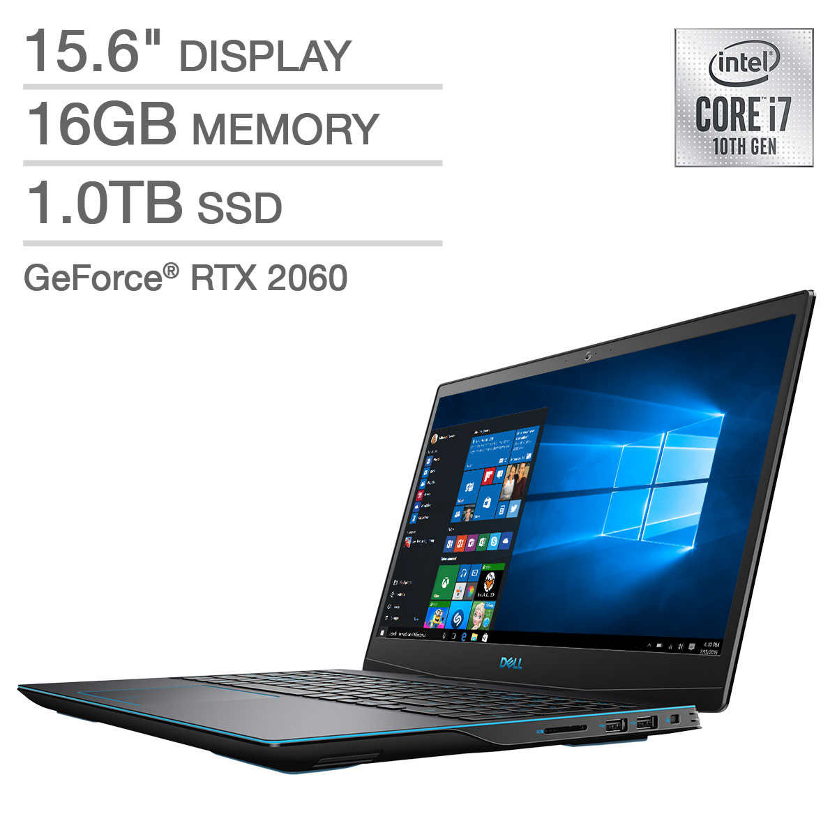 Dell G3 15 Gaming Laptop 10th Gen Intel Core I7 10750h Geforce Rtx 2060 1080p