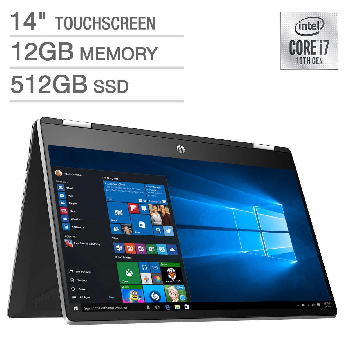 Hp Pavilion X360 2 In 1 14 Touchscreen Laptop 10th Gen Intel I7 1065g7 1080p