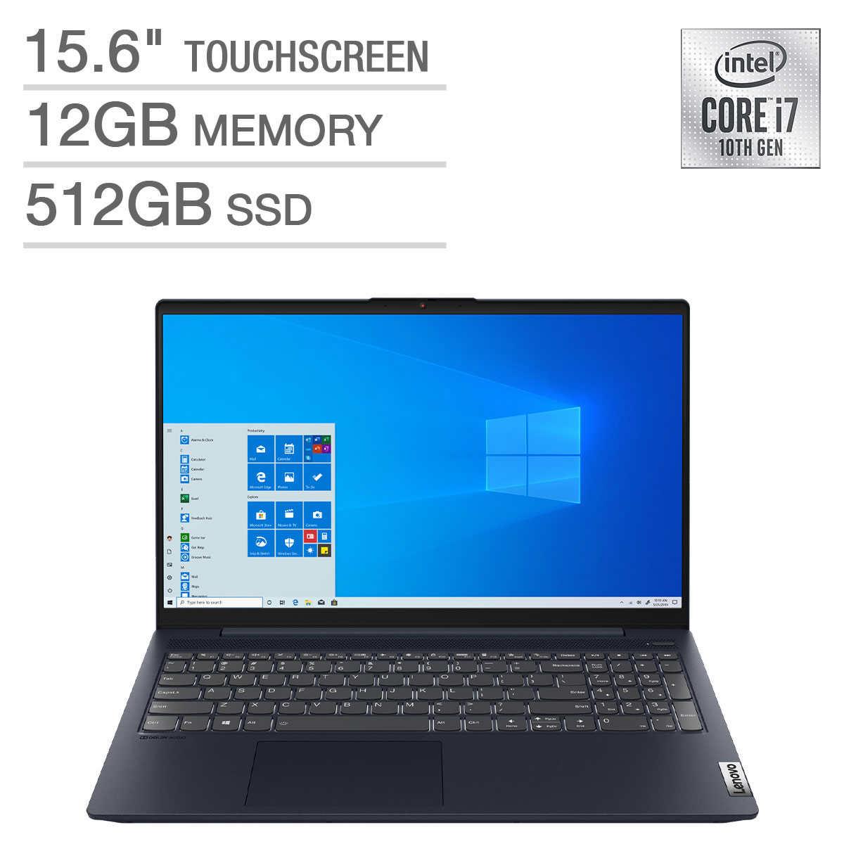 Lenovo Ideapad 5 15 6 Touchscreen Laptop 10th Gen Intel Core I7 1065g7 1080p