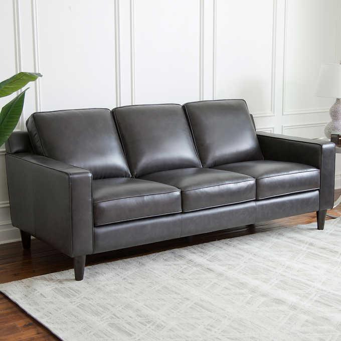 rayen leather sofa