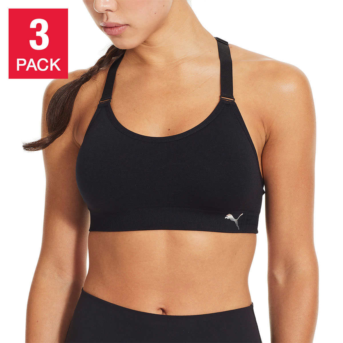 Puma Ladies' Sports Bra, 3-pack | Costco