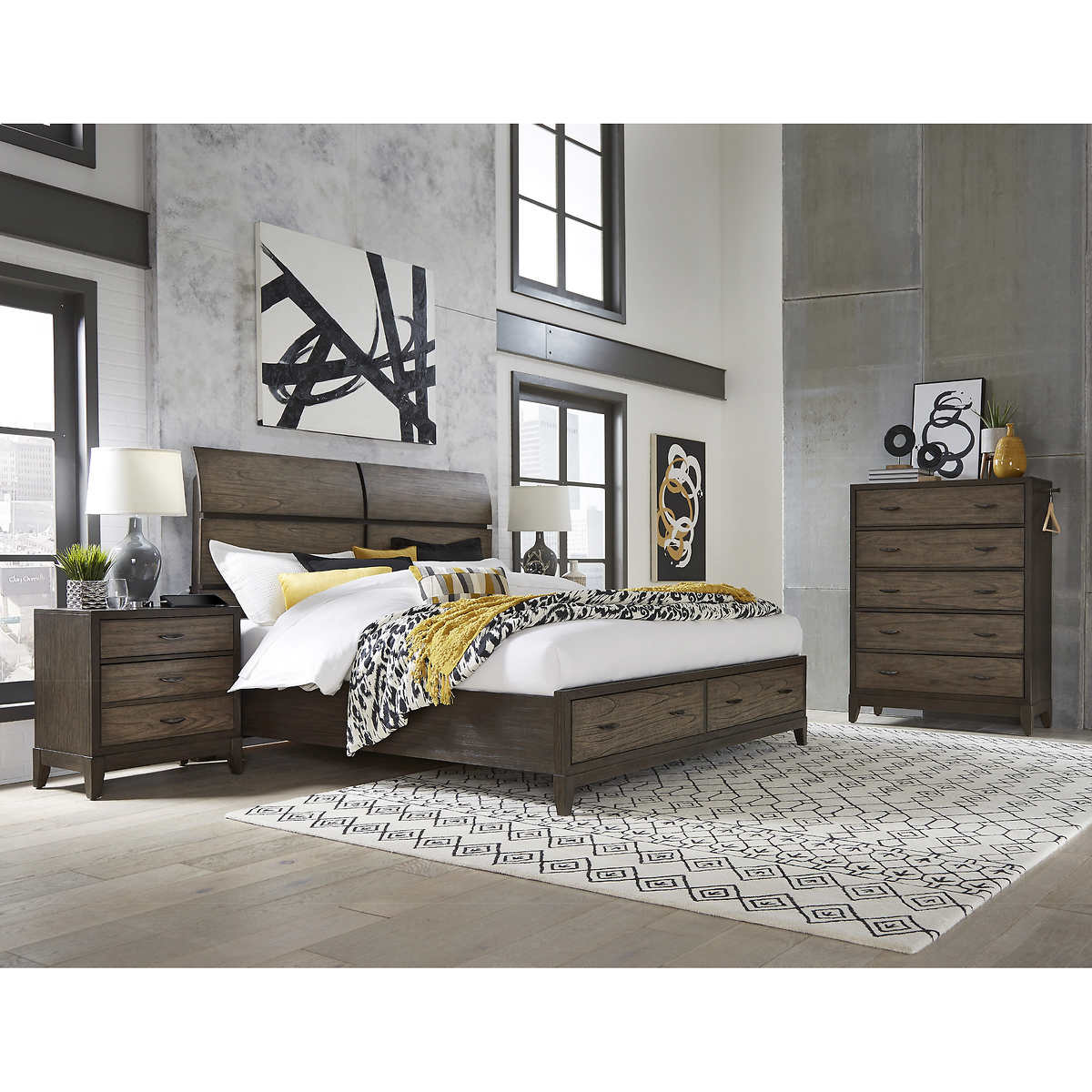Arabella 4 Piece Queen Storage Bedroom Set