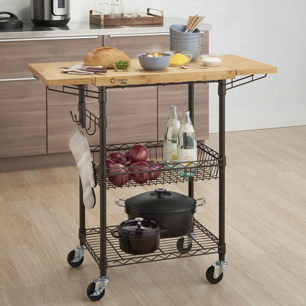 Trinity Pro Ecostorage Kitchen Cart Costco