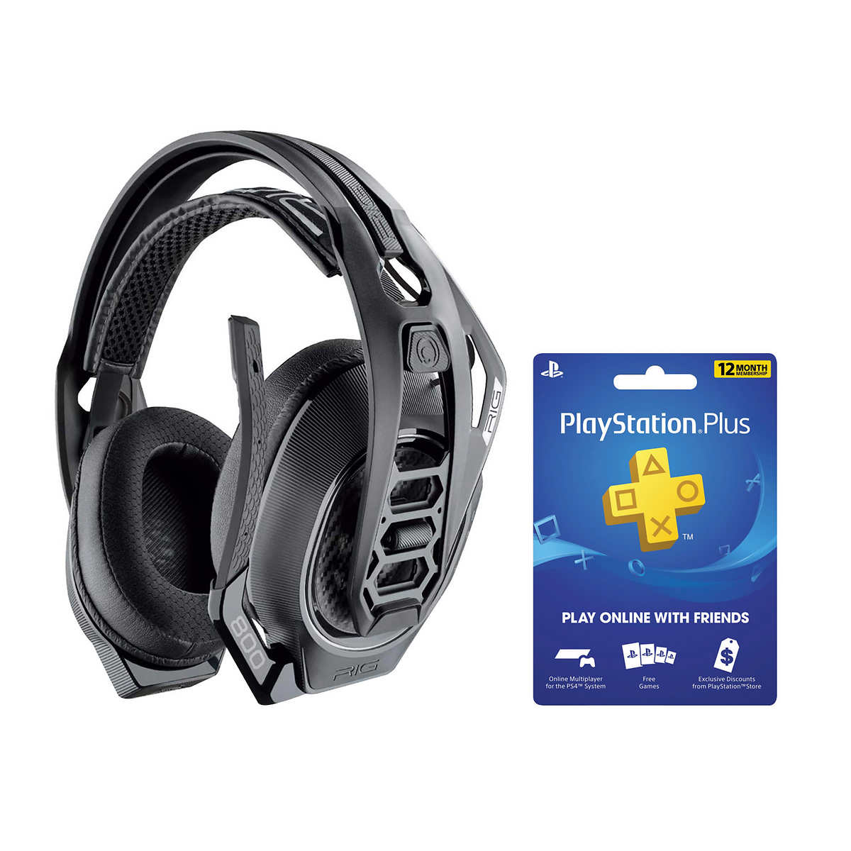 Rig 800 Ps4 Pc Wireless Gaming Headset With Ps4 12 Month Membership