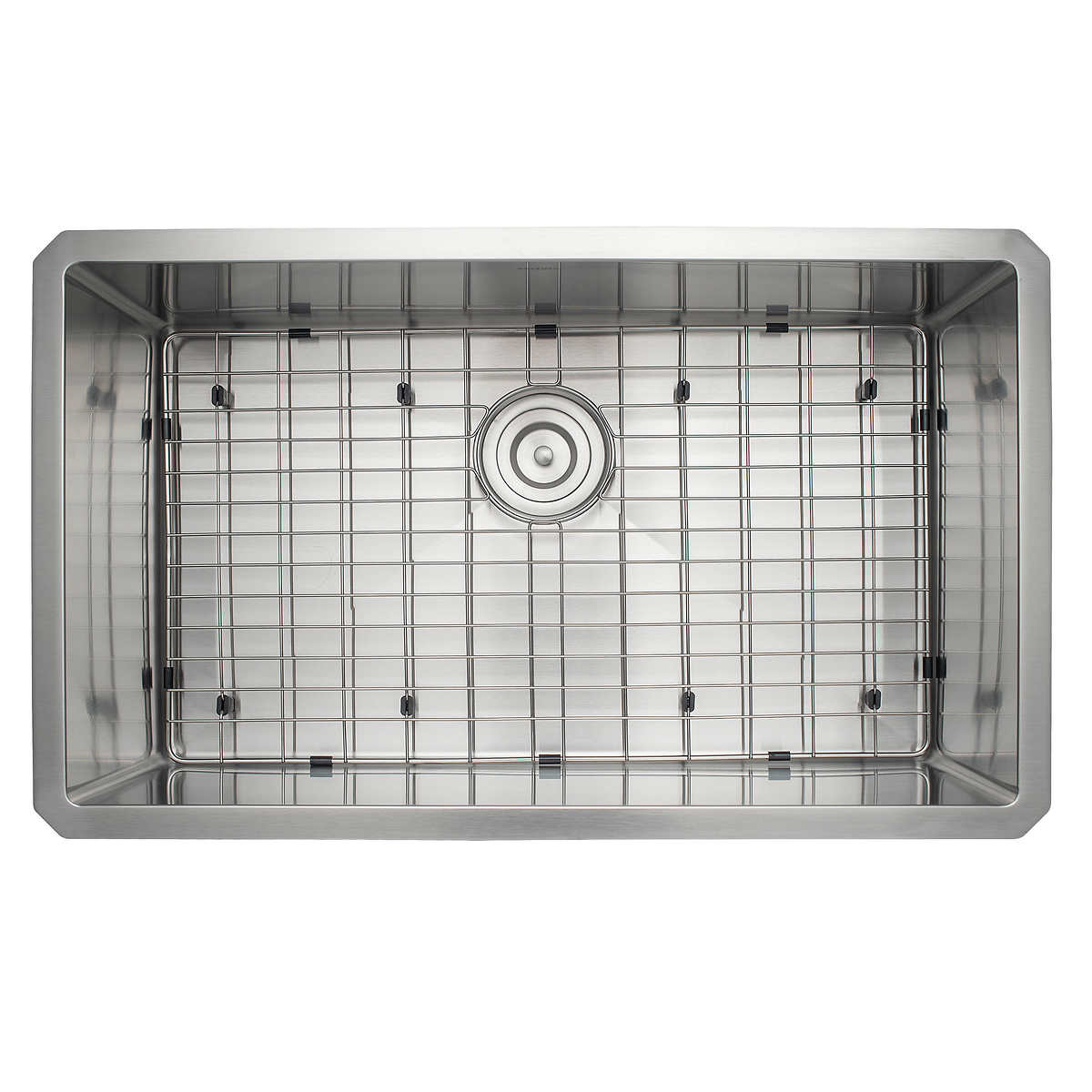 Ancona Prestige Series Undermount Stainless Steel 30 In Single Bowl Kitchen Sink With Grid And Strainer