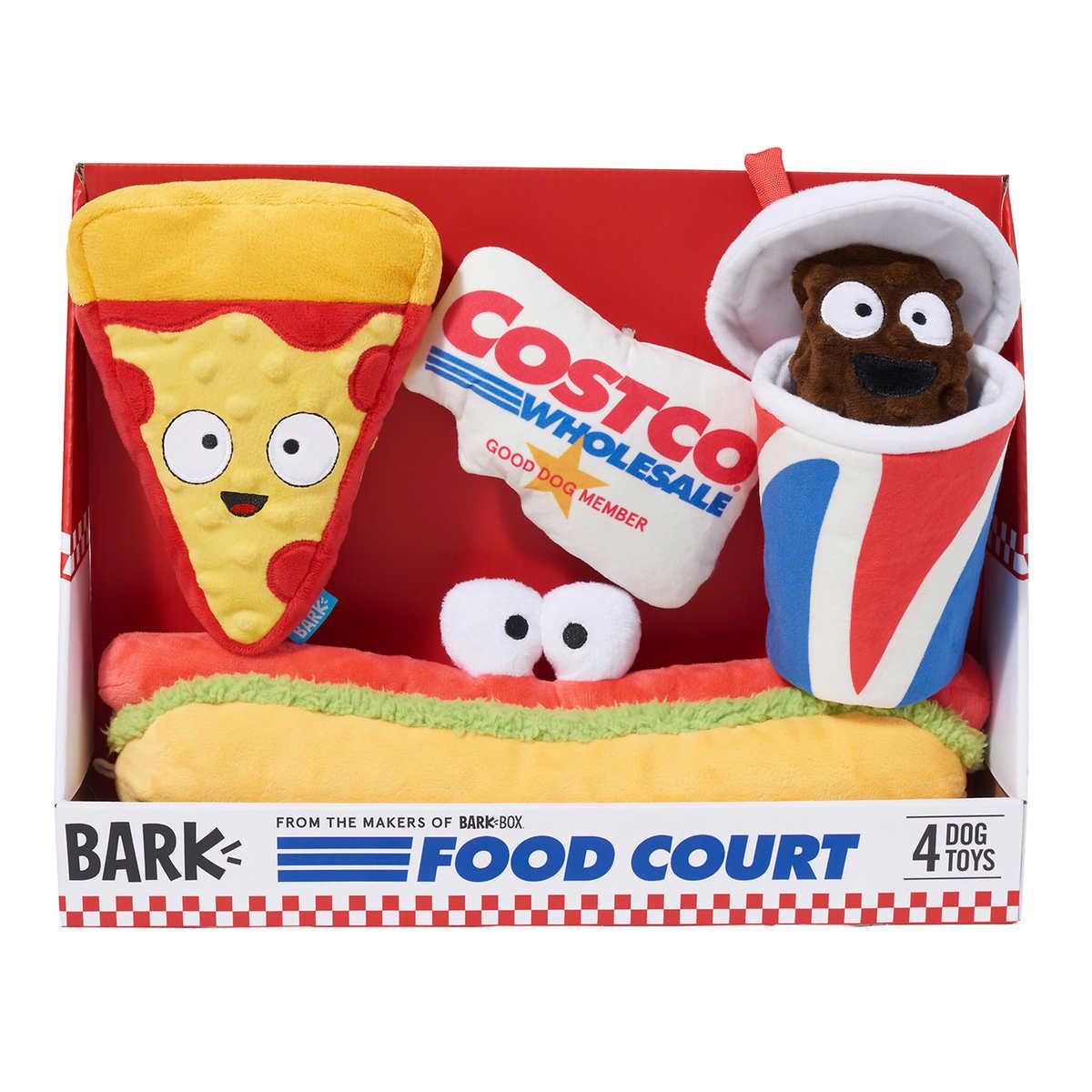 Bark Costco Food Court Dog Toy Bundle 4 Count