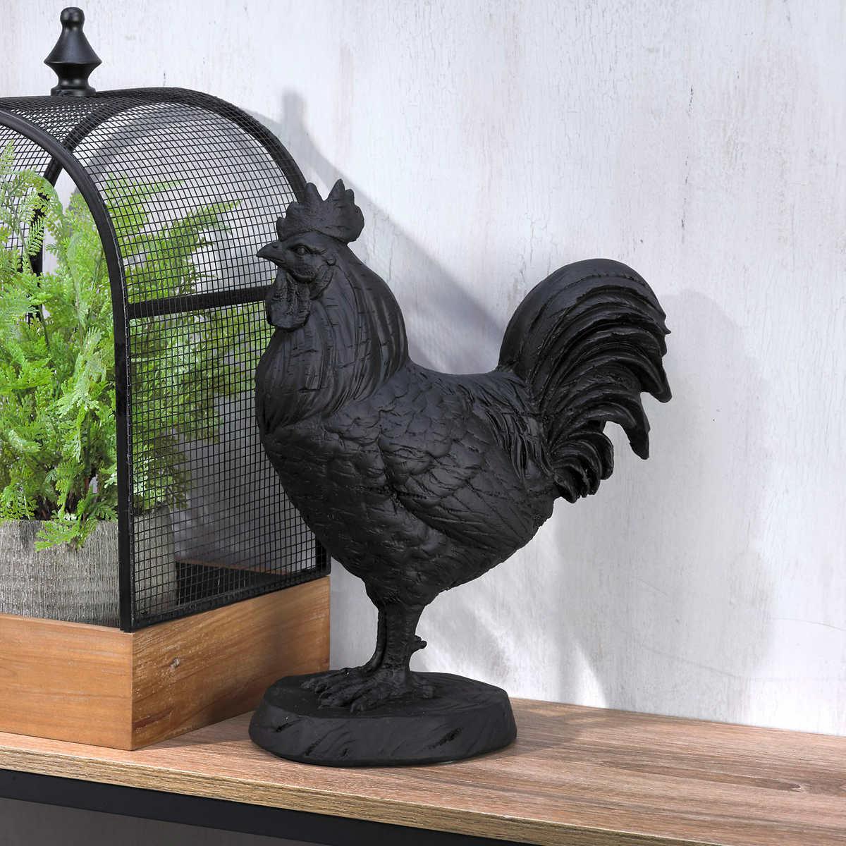 Elements Decorative Rooster Sculpture