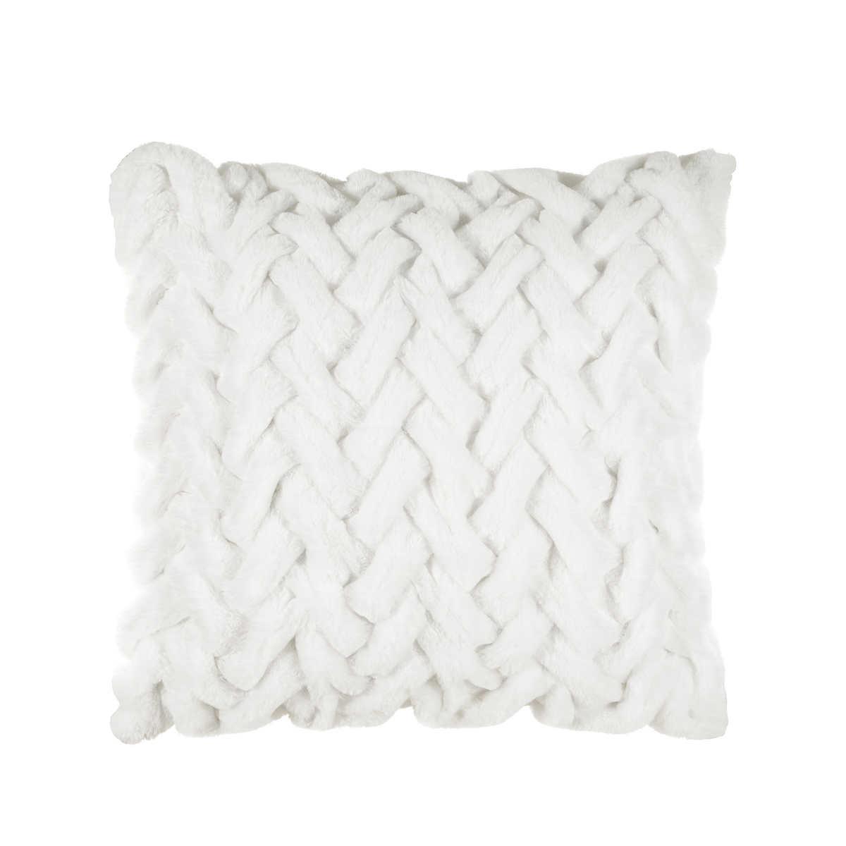 Parklane Ivory Ombre Braided Decorative Pillow 24 X 24
