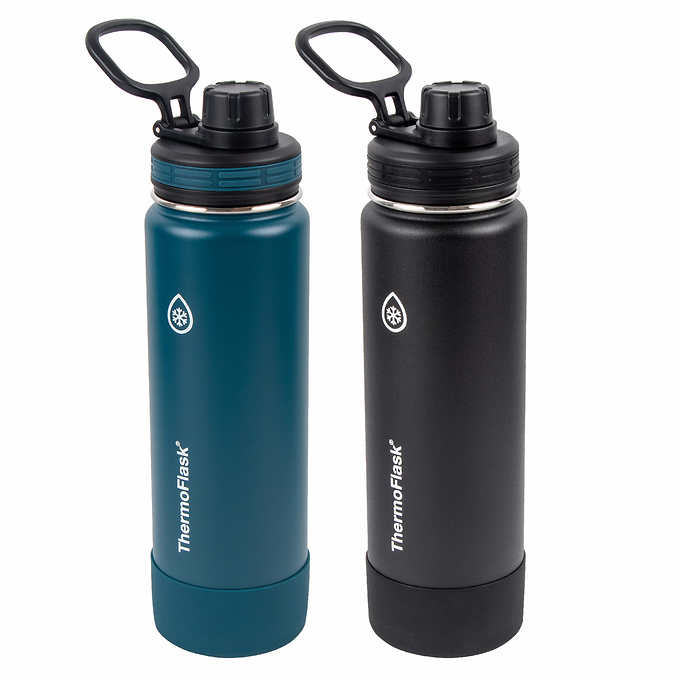 Deals on 2 Pack ThermoFlask 24oz Stainless Steel Insulated Water Bottle