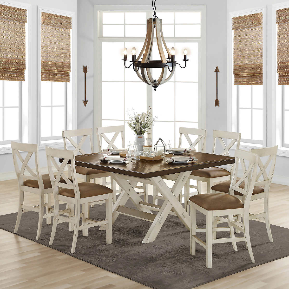Stefan 9 piece Counter Height Dining Set   Costco