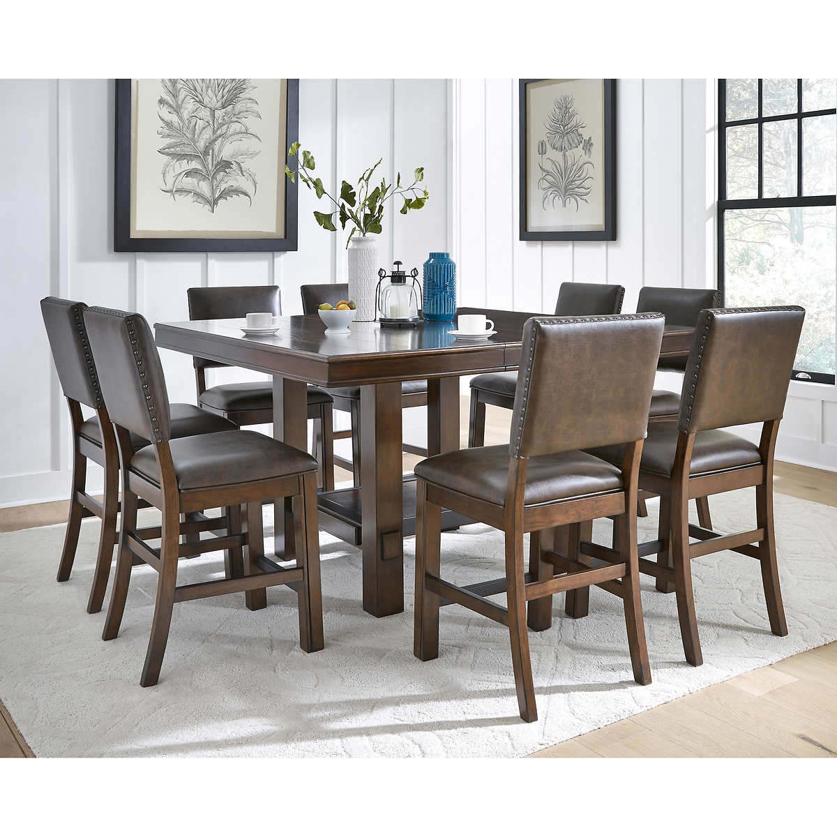 Sable 9 Piece Counter Height Dining Set Costco