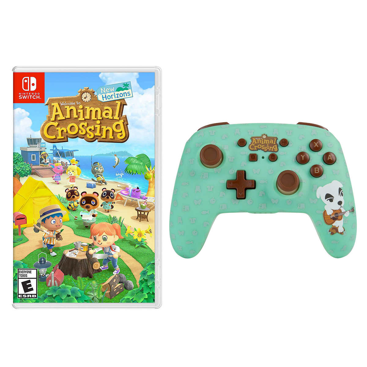 Nintendo Switch Animal Crossing Game And Powera Wireless