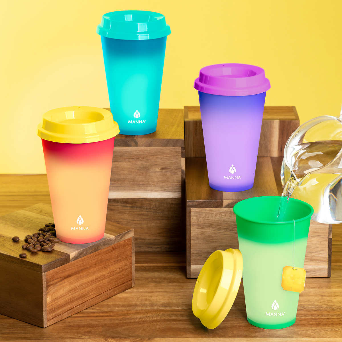 Manna Hot Color Changing To Go Cups 12 Pack