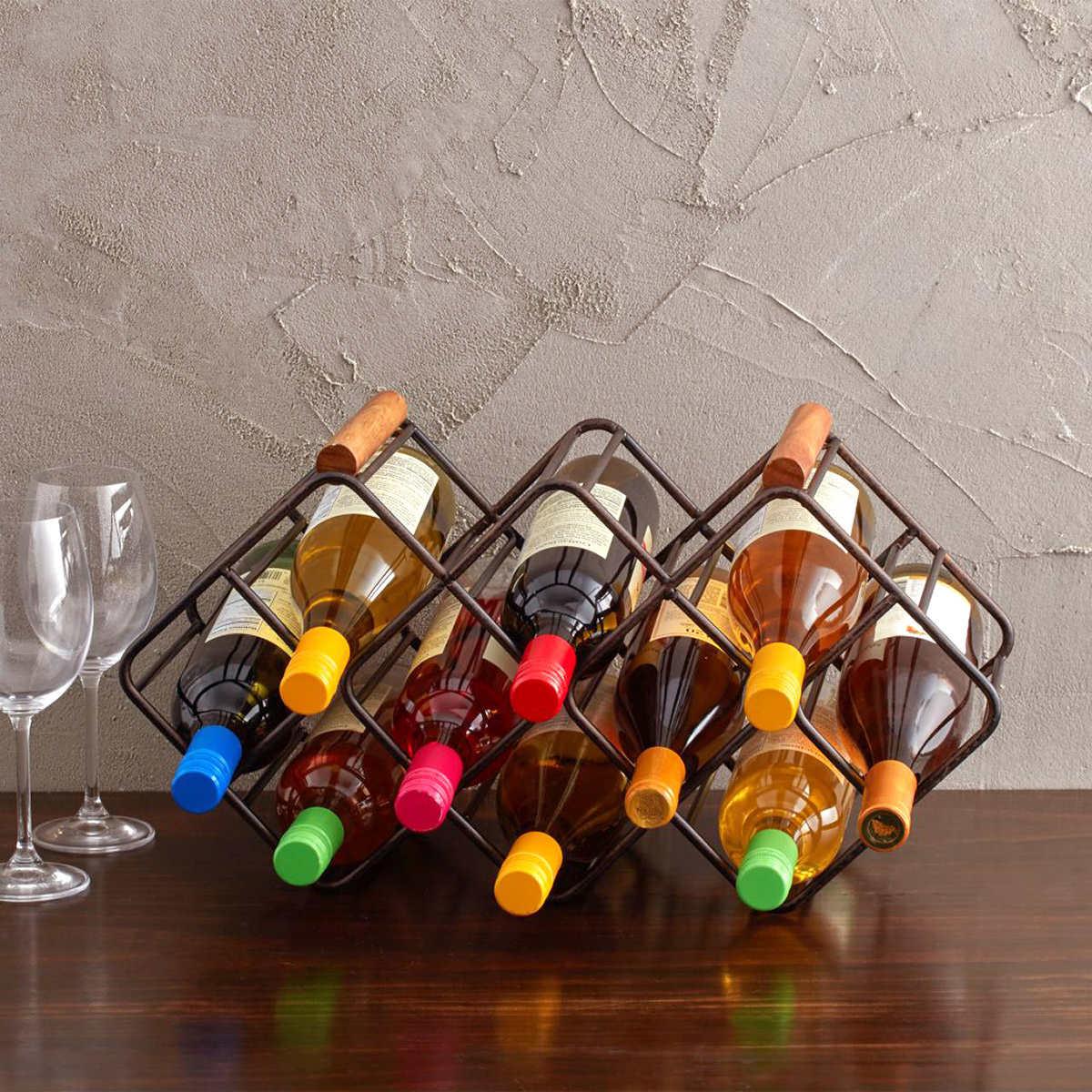 Gourmet Basics By Mikasa Stackable 12 Bottle Wine Rack