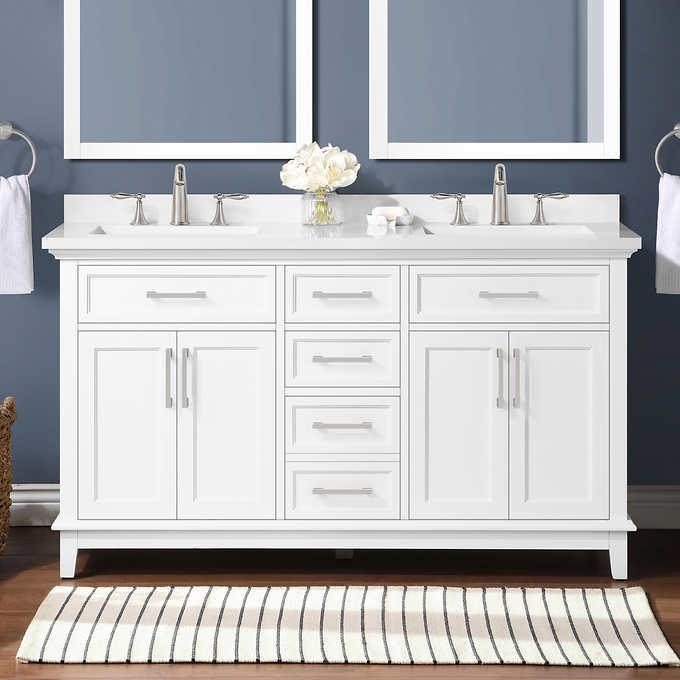 Ove Decors Dylan 60 Bath Vanity Costco, 60 Bathroom Mirror