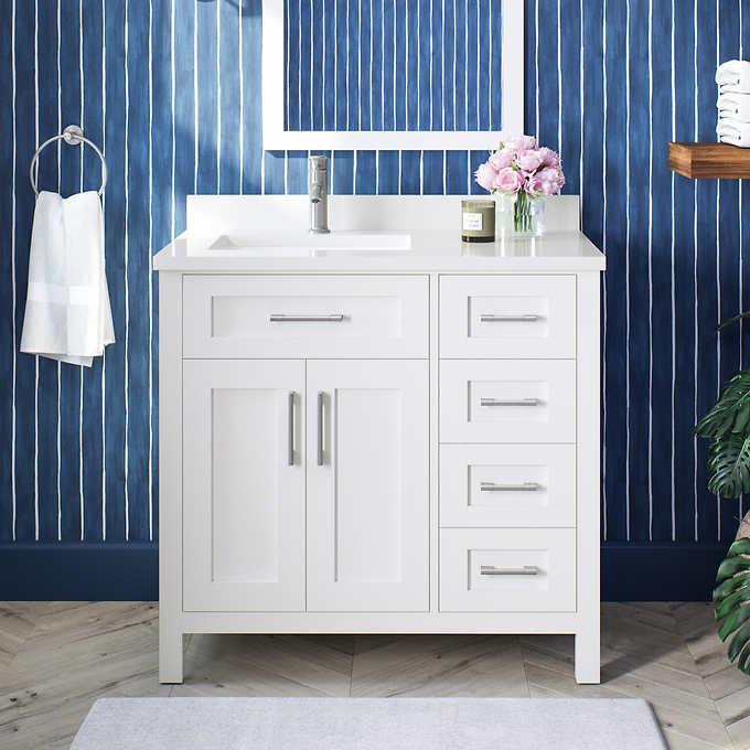 Ove Decors Lakeview 36 Vanity Costco, Ove 42 Inch Bathroom Vanity Costco
