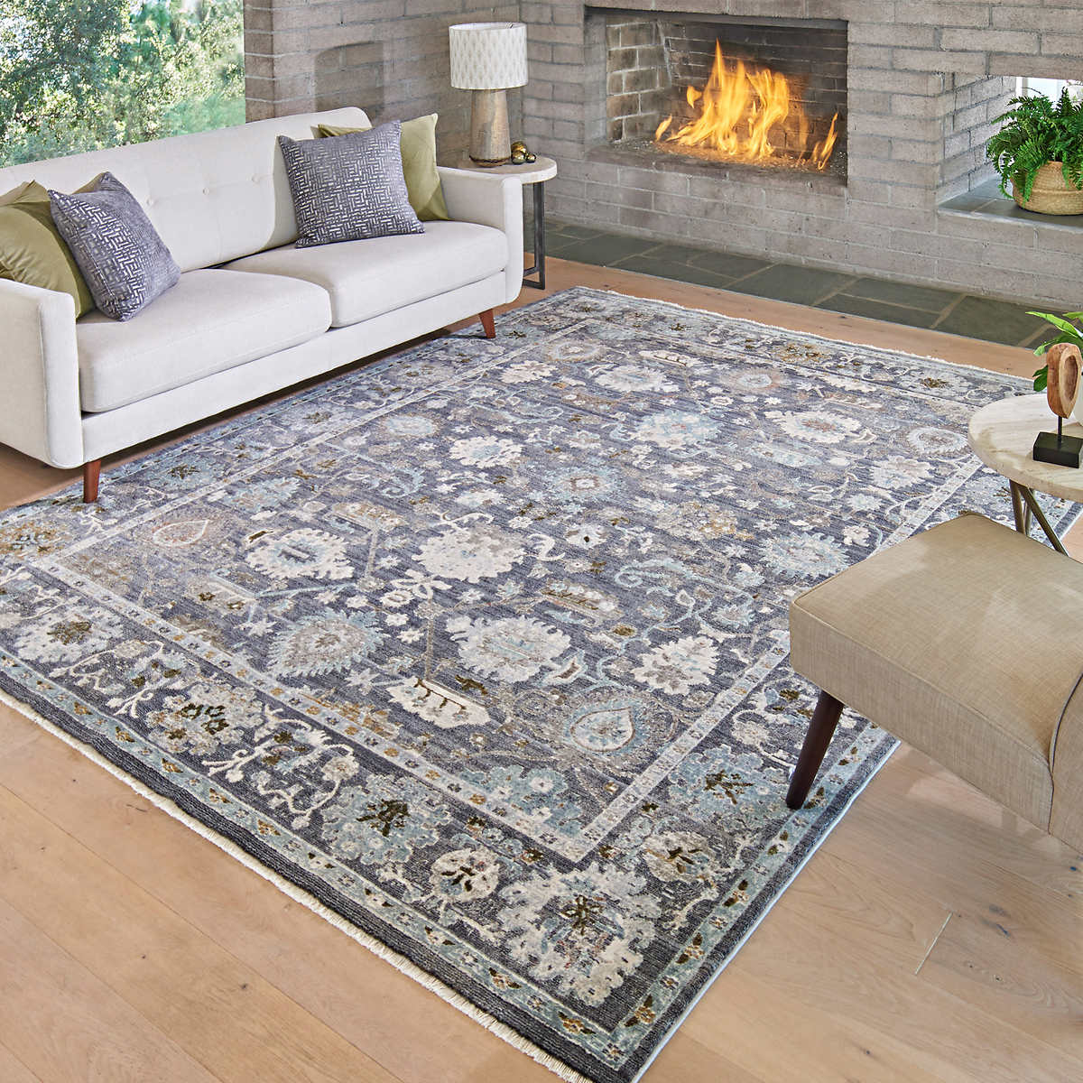 Asteria Area Rug Or Runner Brooks Gray