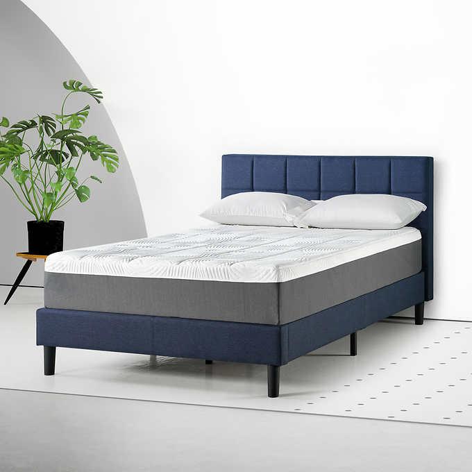 Blackstone 12 Memory Foam Mattress And, Solid Platform Bed Frame For Memory Foam Mattress