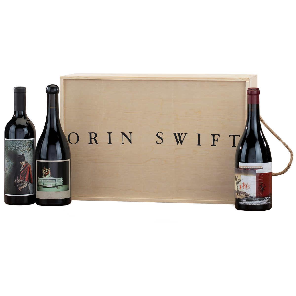 Orin Swift 3 Bottle Wine Crate 750 Ml Ca Only