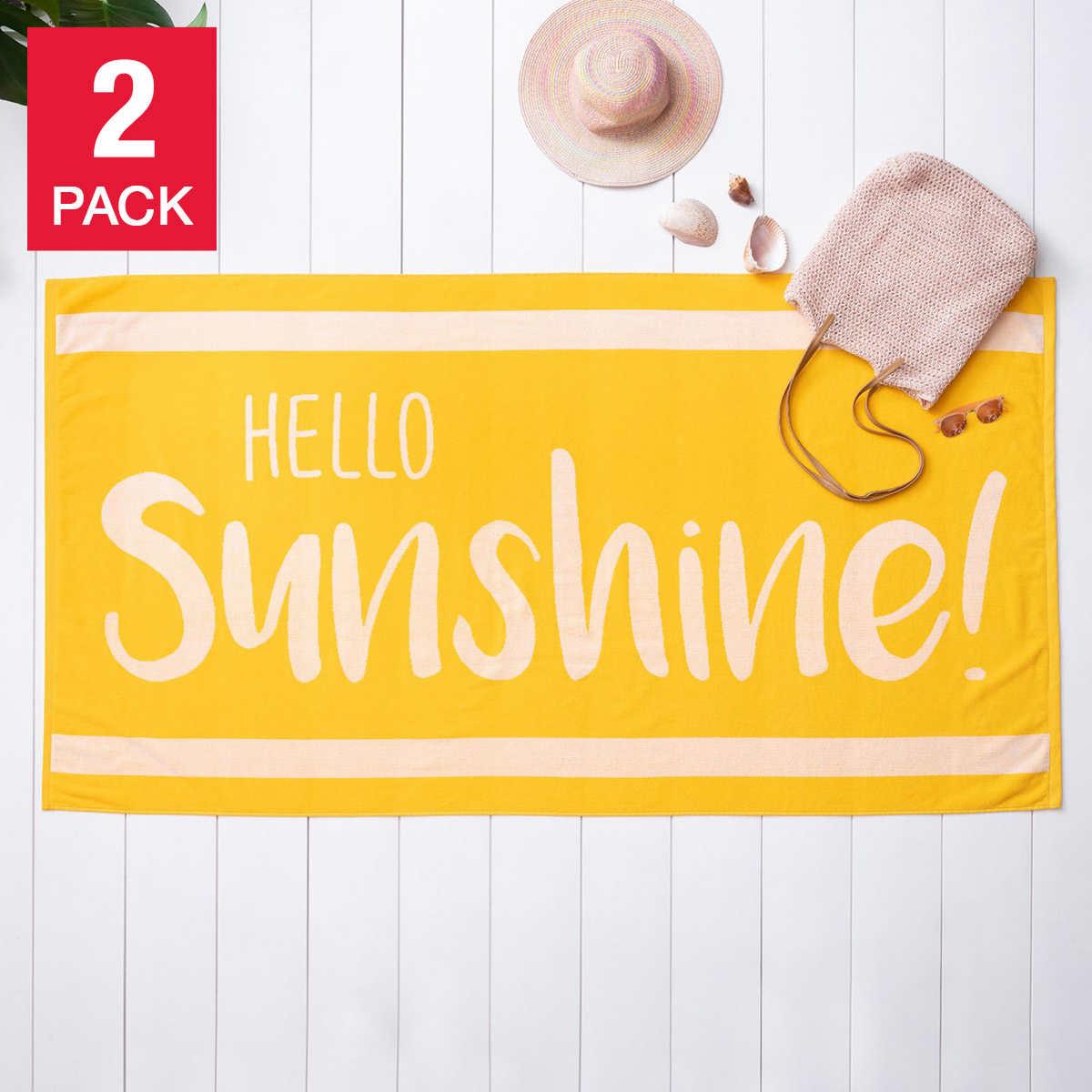 Hello Sunshine 2 Pack Beach Towel