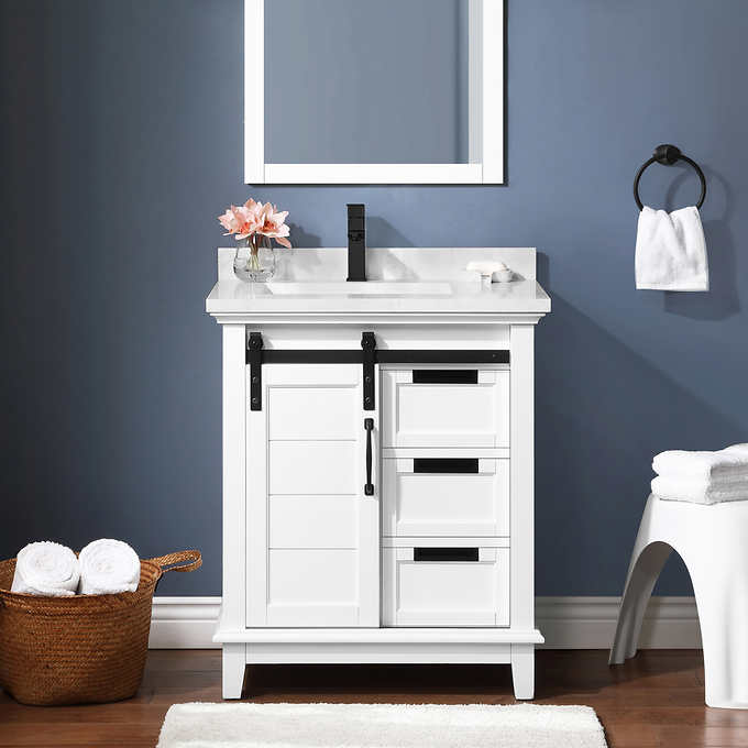 Ernest 30 Bath Vanity Costco, 30 Wide Bathroom Vanity