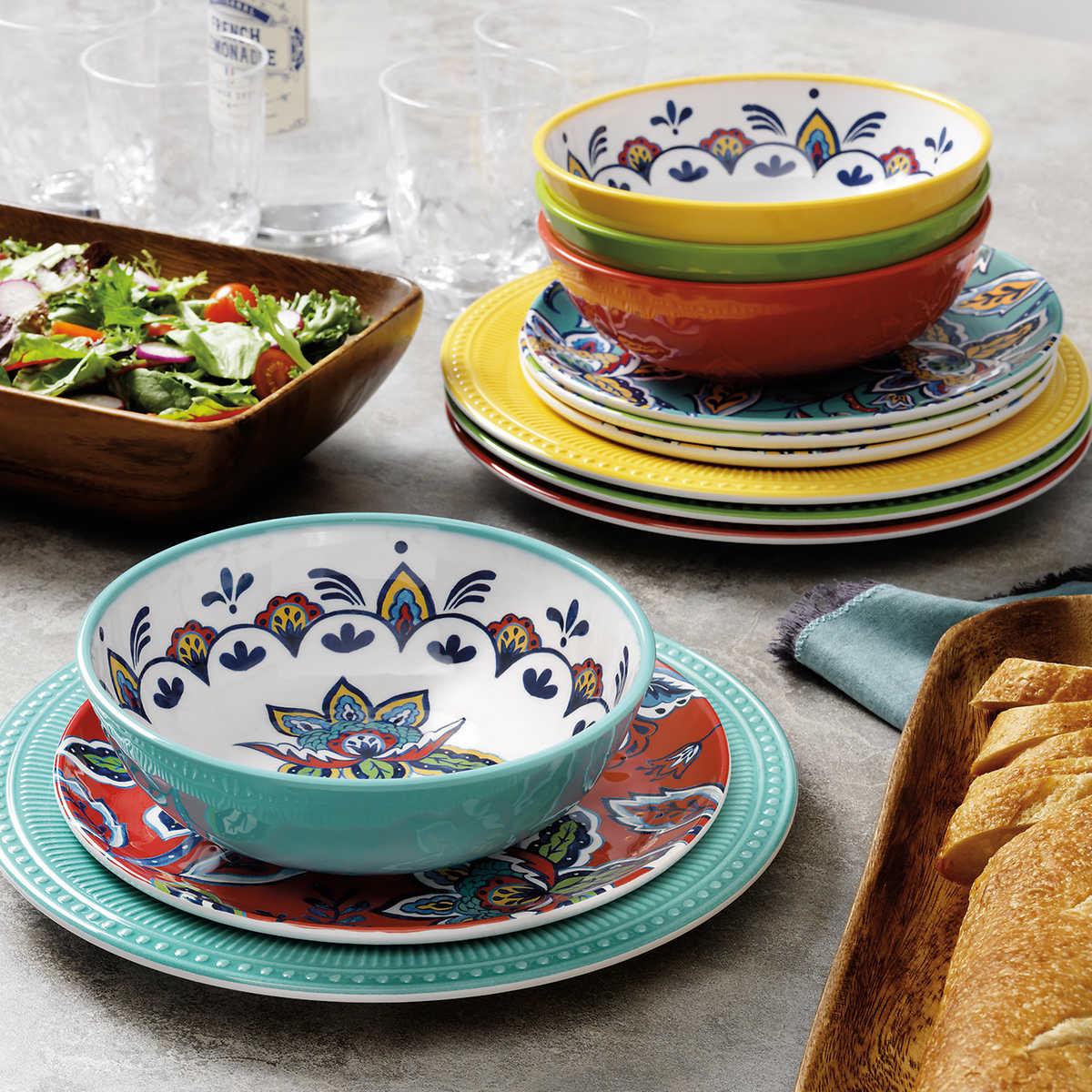 Pandex 12 Piece Melamine Dinnerware Set