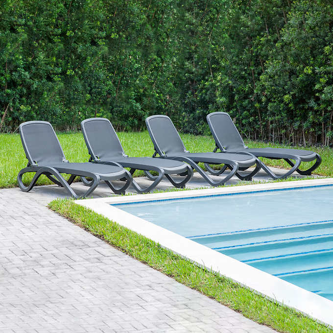 Omega Commercial Chaise Lounge Chair 4, Chaise Lounge Chairs Outdoor Costco