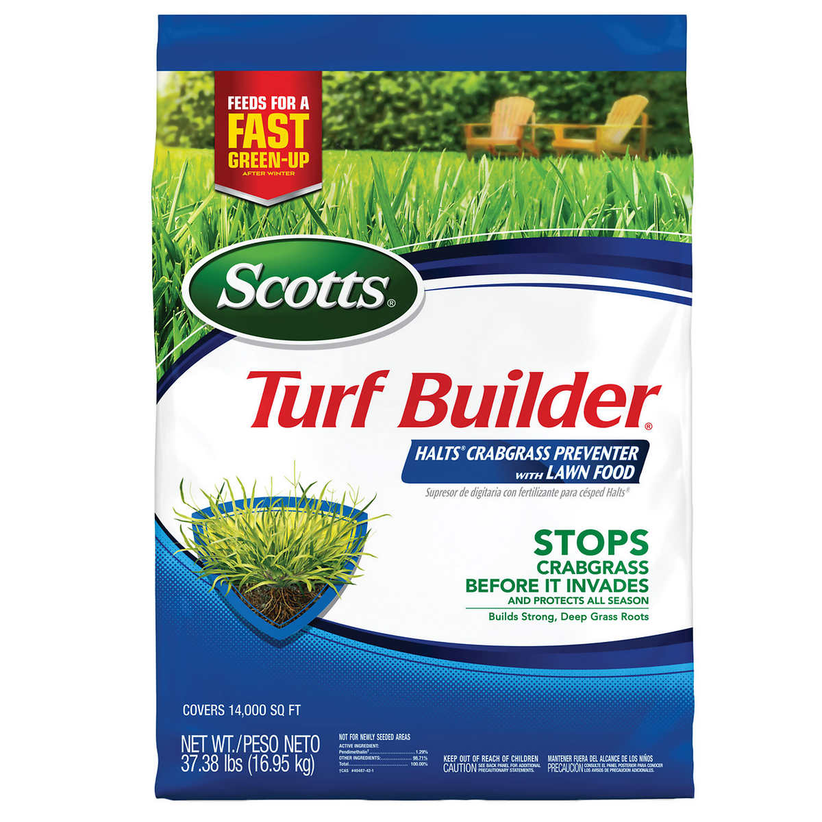 Scotts Turf Builder Halts Crabgrass Preventer With Lawn Food 37 38 Lb
