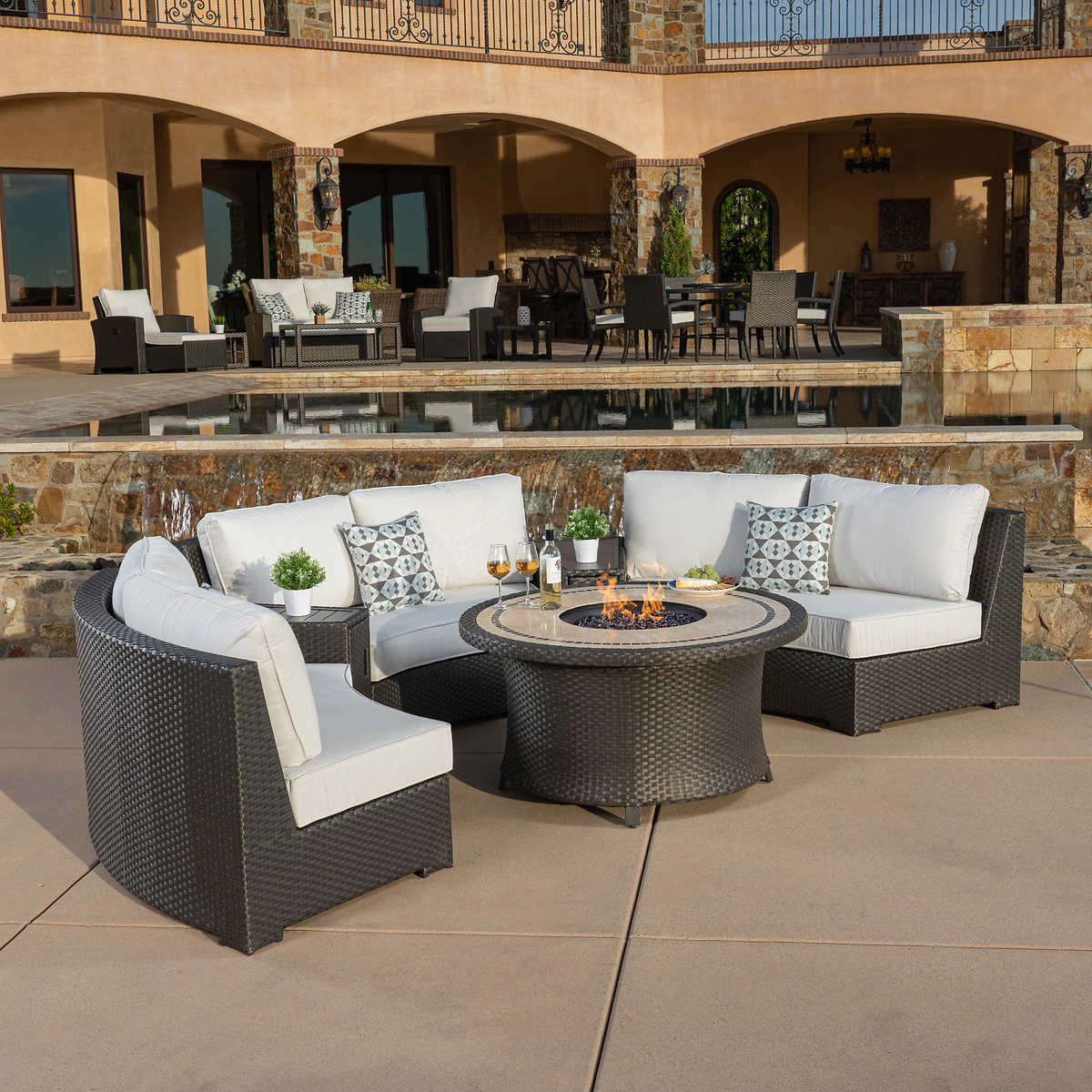 Sidney 6 Piece Fire Chat Set Costco