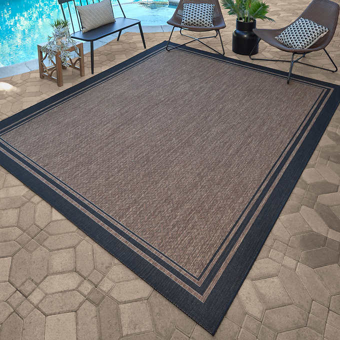 Naples Indoor Outdoor Area Rug Ace Border