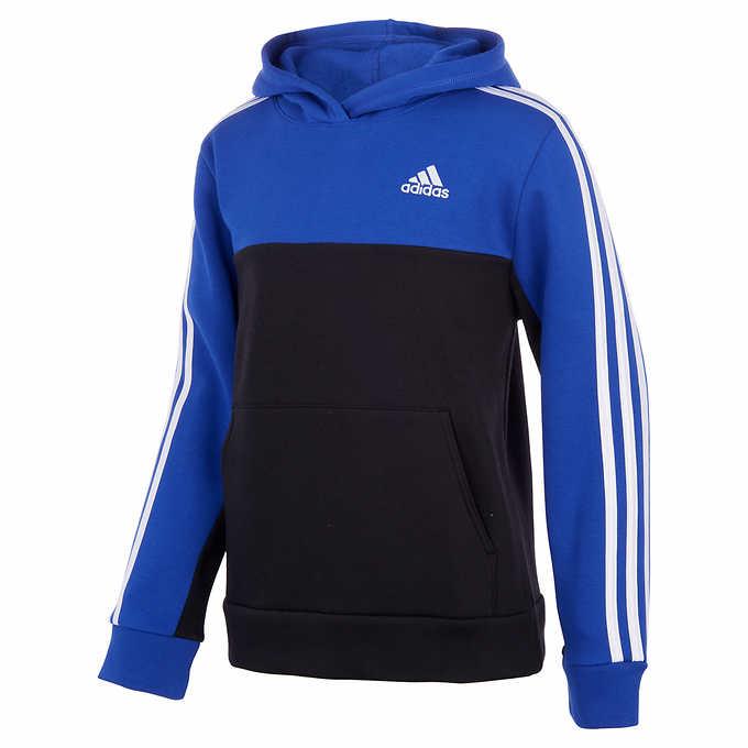 adidas Youth Pullover Fleece Hoodie | Costco