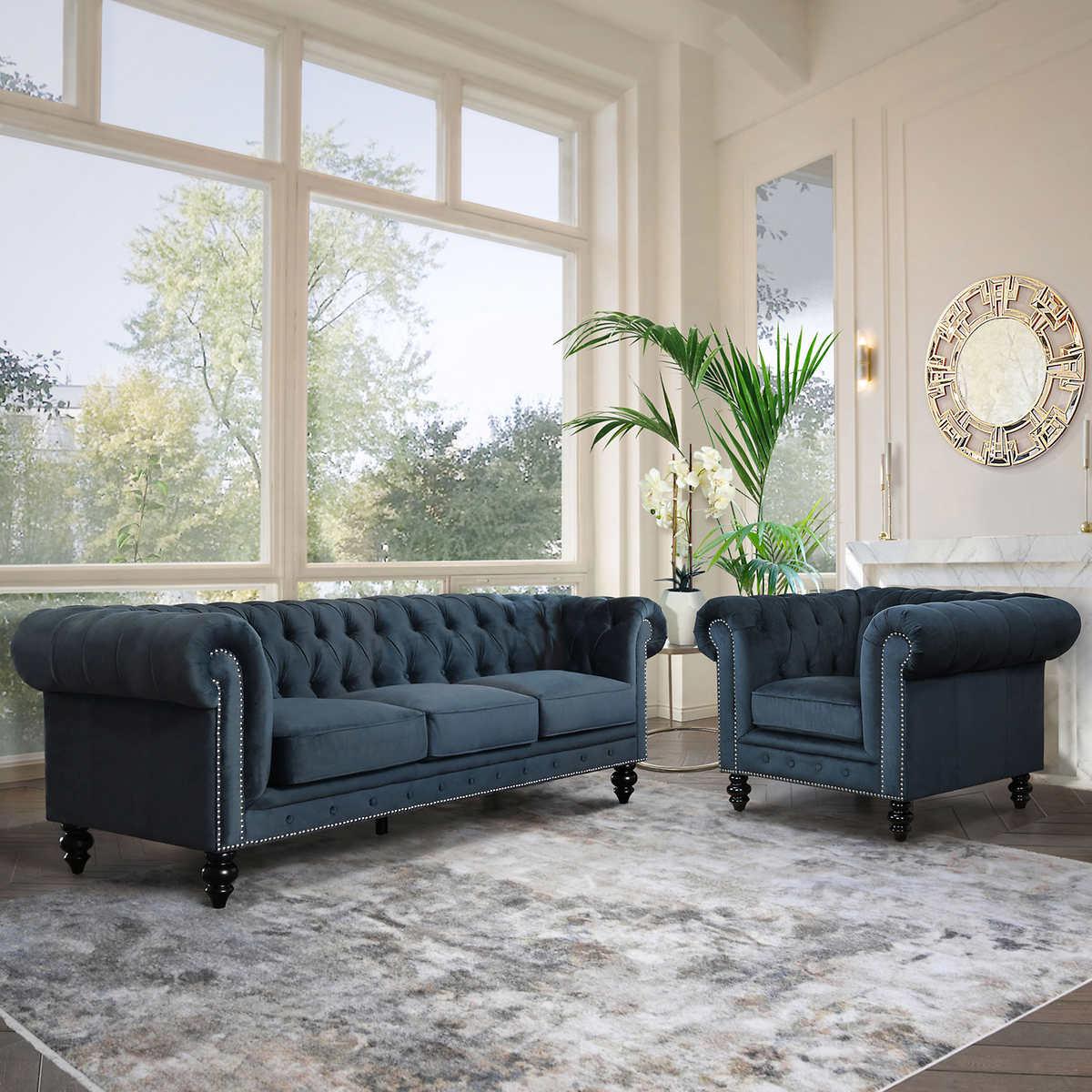 Lorelei 2 Piece Living Room Set Sofa, Two Piece Living Room Set