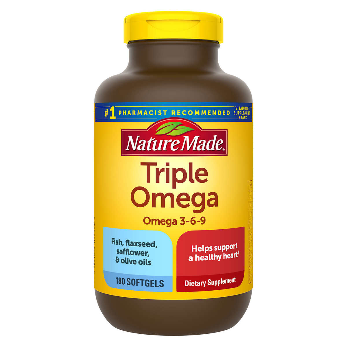 Nature Made Triple Omega 180 Softgels