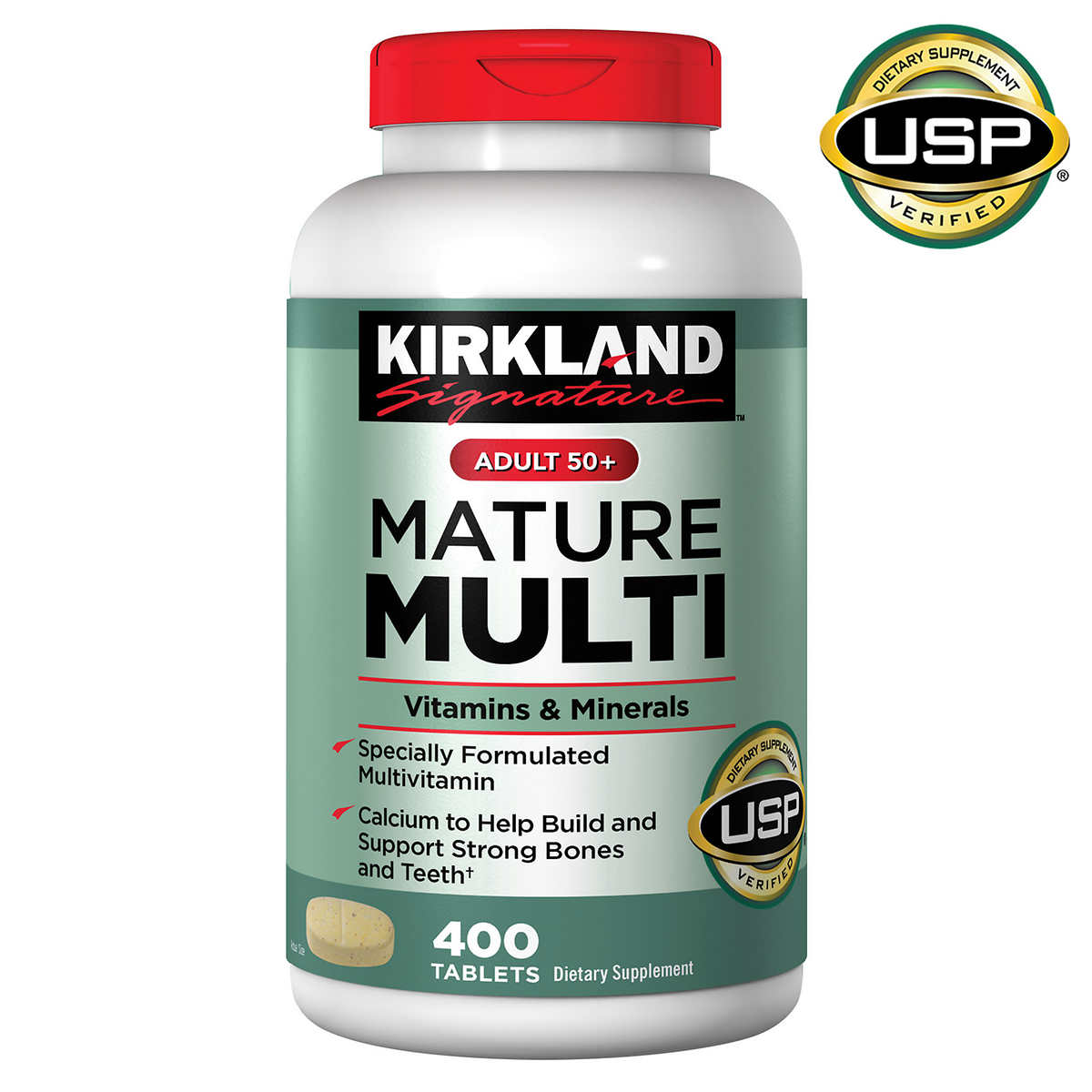 Kirkland Signature Adult 50 Mature Multi Vitamins Minerals 400 Tablets