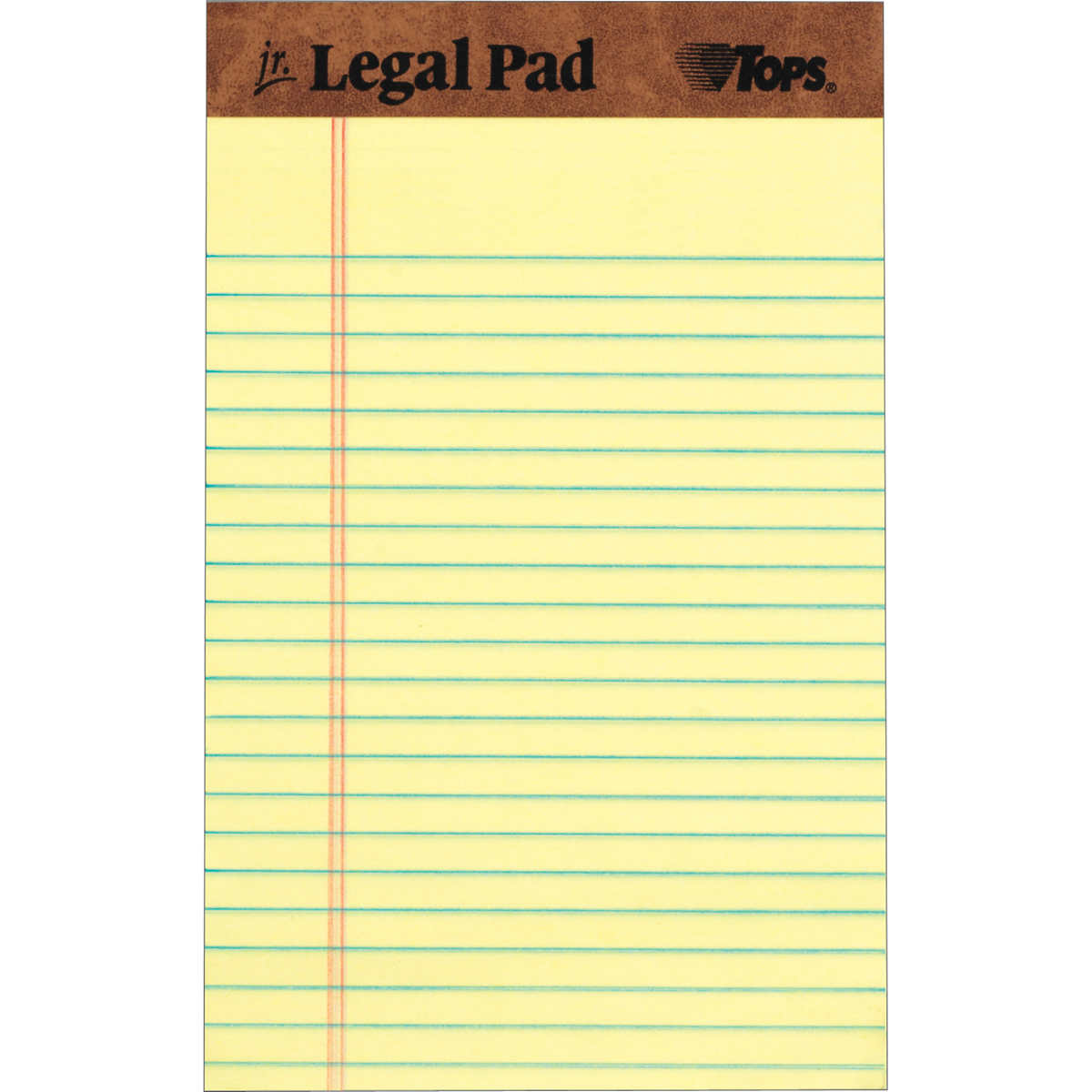 TOPS The Legal Pad Jr., 36 in. x 36 in., Canary, 36-Count