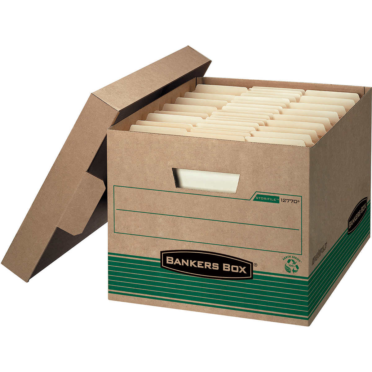 bankers box econo storagefile with locking lid kraft 12ct boxes stack office file